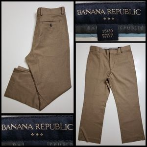 banana republic mens dress pants khaki size 35/30